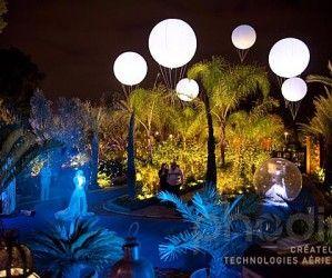 Ballons hélium lumineux au grand casino Mamounia de Marrakech