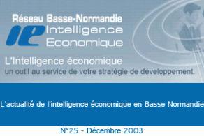 La lettre scientifique et technologique de Basse-Normandie - Décembre 2003