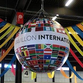 Ballon géant gonflable à l'hélium : 2,50m en PVC