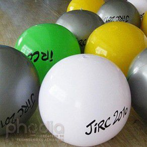 Ballons géants gonflables air : 60 cm en PVC