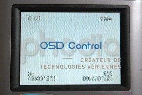 Affichage de l'OSD Control