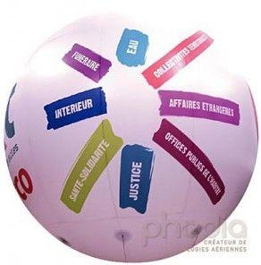 Impression complète sur sphère hélium