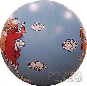 Total covering sur ballon pub