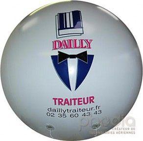 Ballon pub en P.U. pour Dailly traiteur