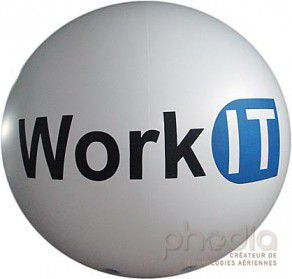 Sphère publicitaire hélium pour Work IT