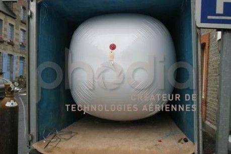Vue du ballon dans sa remorque