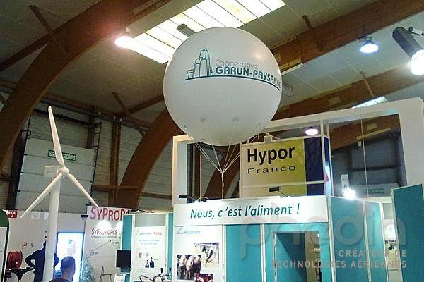 Ballons publicitaires au Space: Coopérative Garun-Paysanne