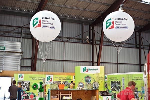 Ballons publicitaires au Space: Bioret Agri