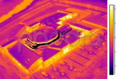 Vue du bâtiment thermographié