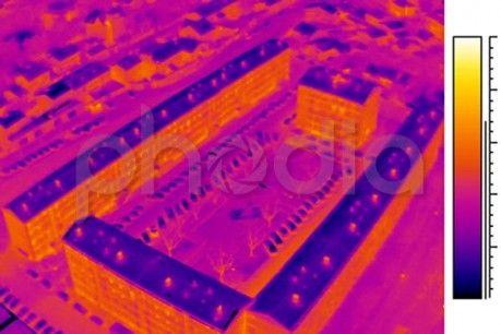 Vue des immeubles thermographiés