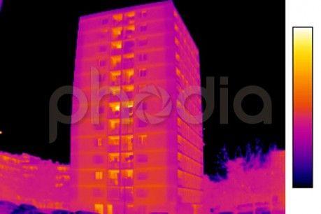 Vue de la façade thermographiée