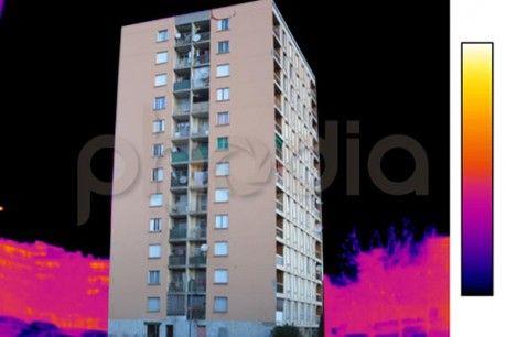 Vue de la façade à thermographier