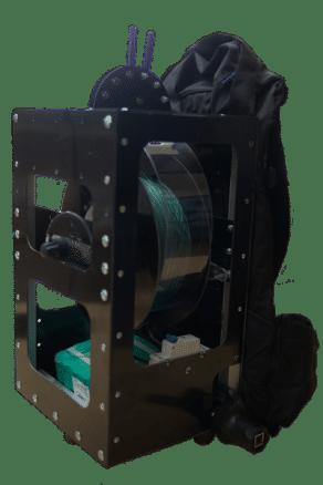 Treuil électrique dorsal pour la photographie aérienne