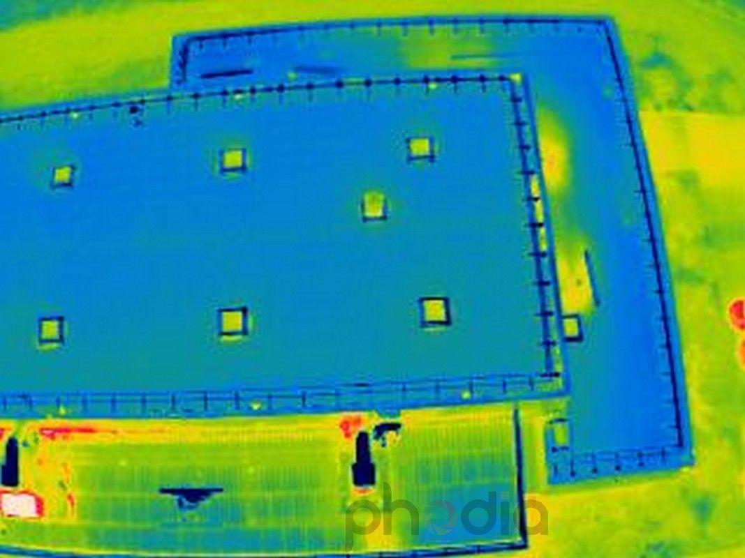 vues aériennes réalisées avec une caméra thermique