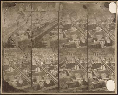 Photo aérienne 1858: Paris (Crédit Photo:RMN)