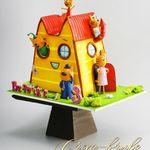 "Thumbnail №1 | Торт ""Мультяшный дом"""