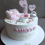 "Thumbnail №1 | Торт ""Метрика для малышки"""