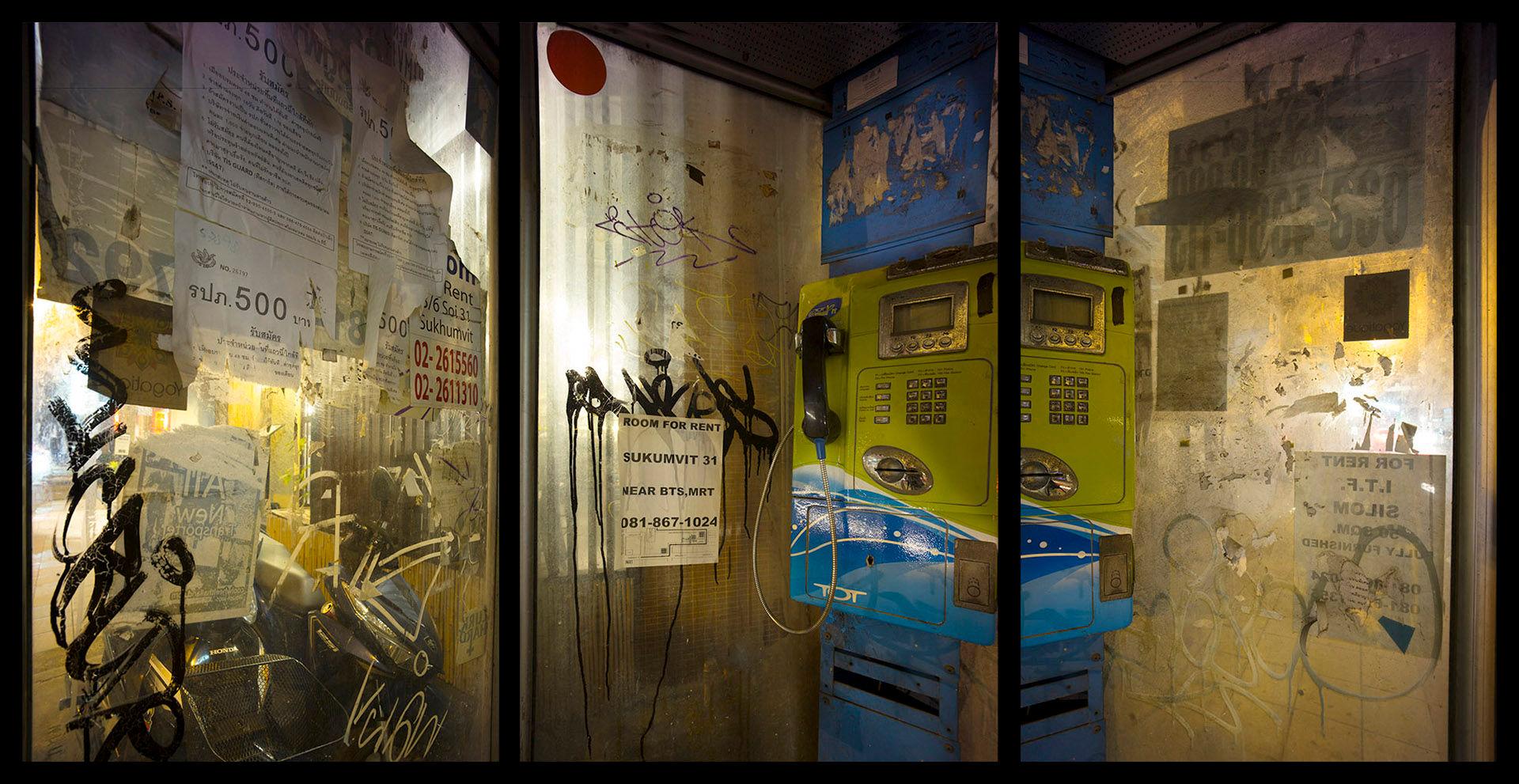 Near BTS, MRT triptych