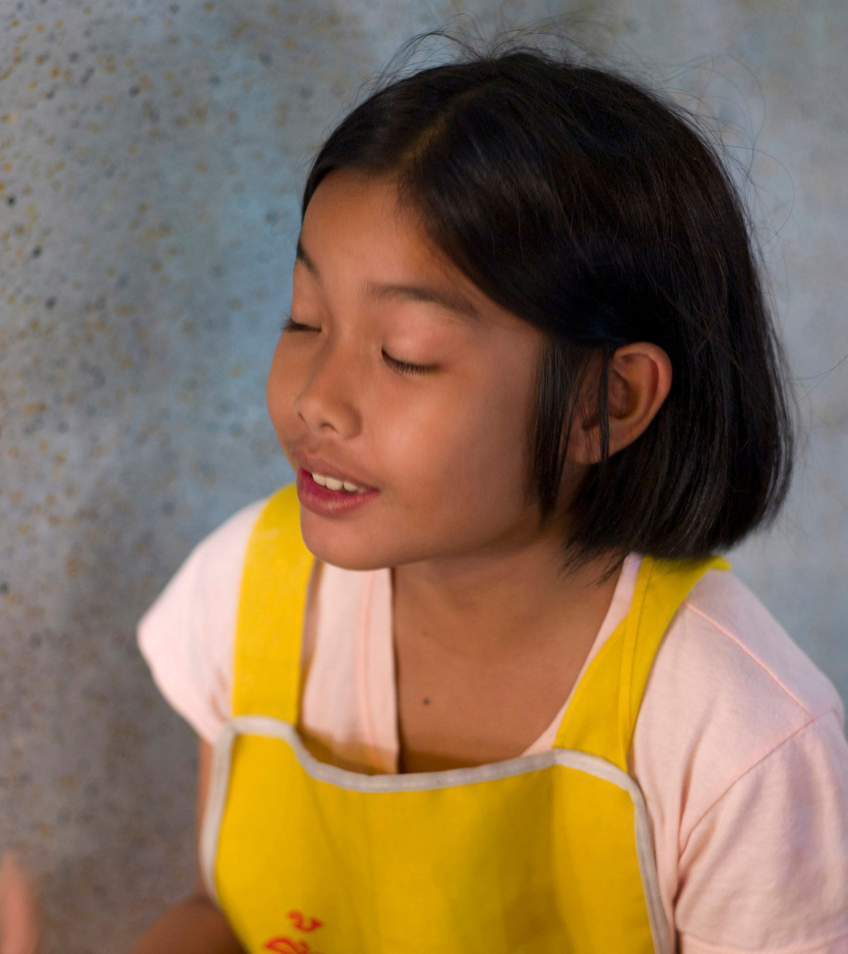 Girl Yellow Apron