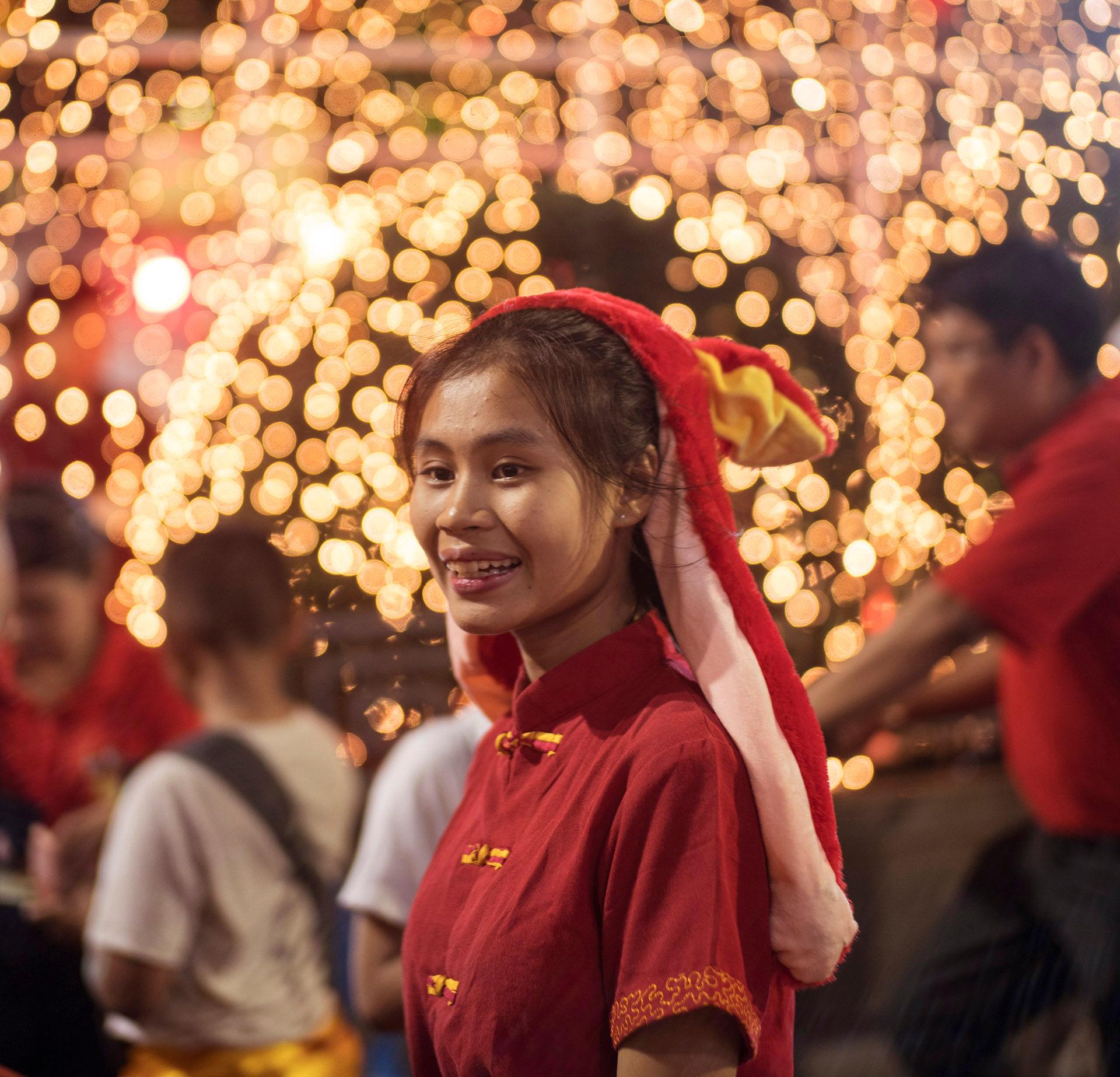 Girl in Red Headdress