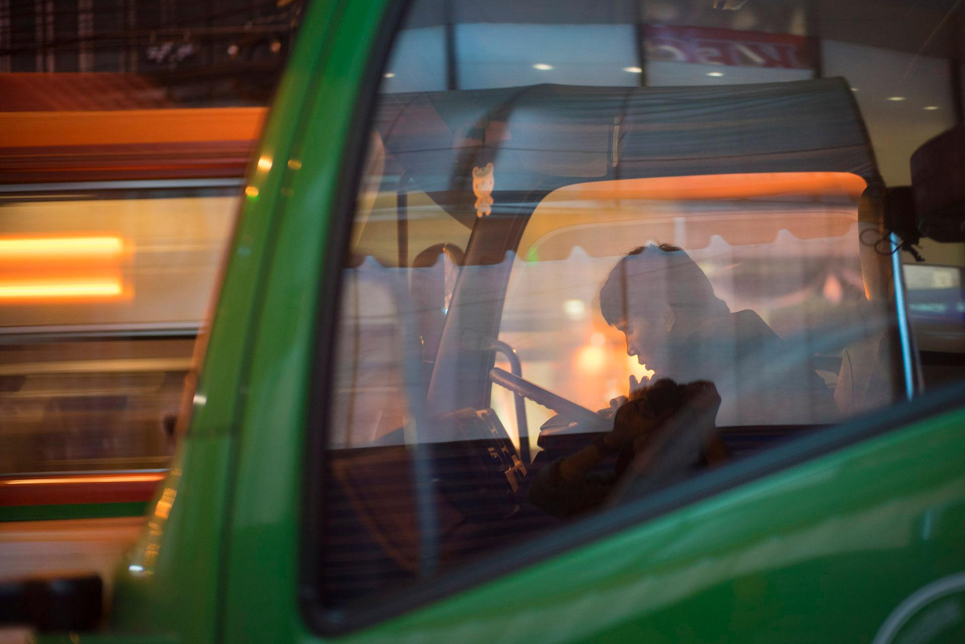 Man in Green Truck 50