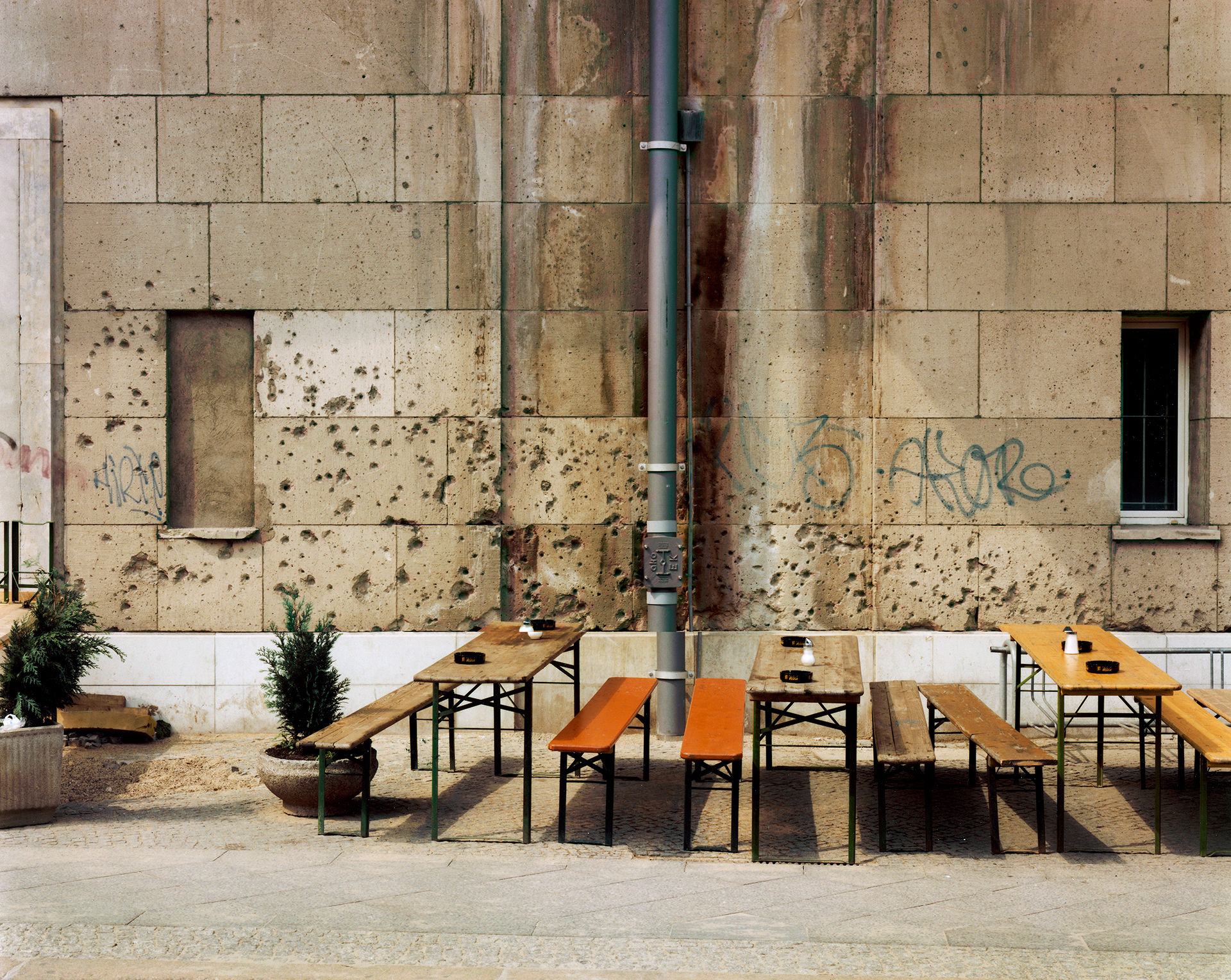 Bullet Holes and Benches (Georgenstr)