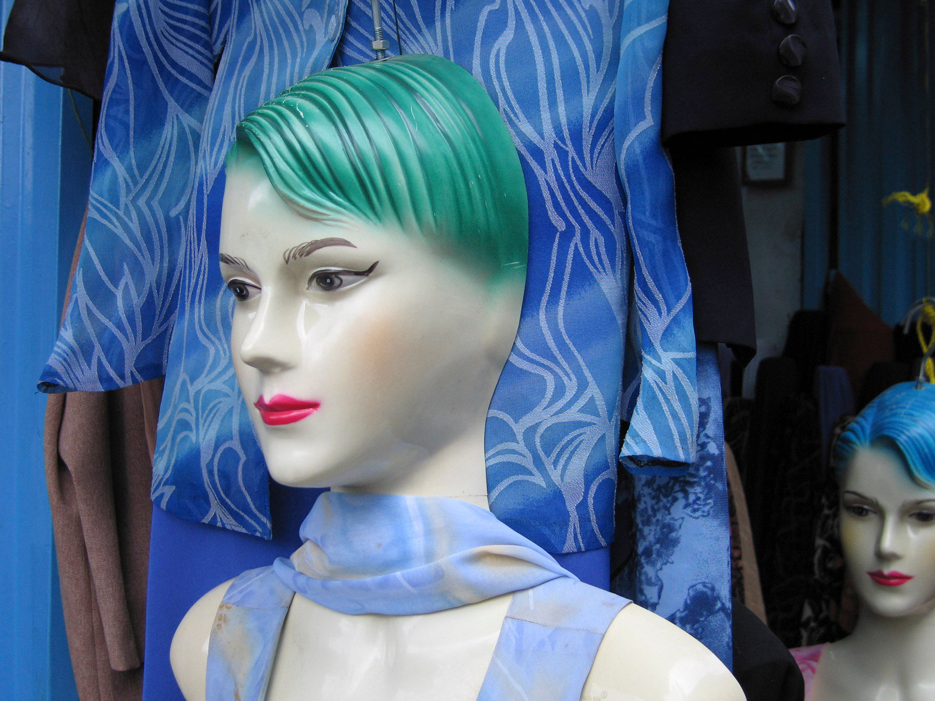 Blue Mannequin 2