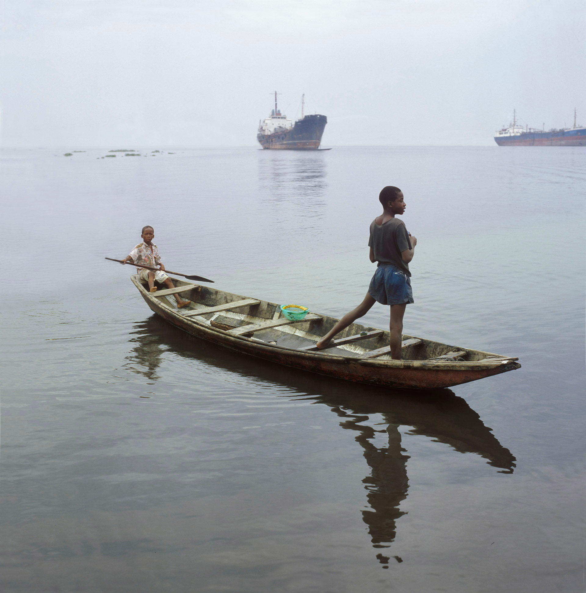 Boys in Pirogue, Lagos