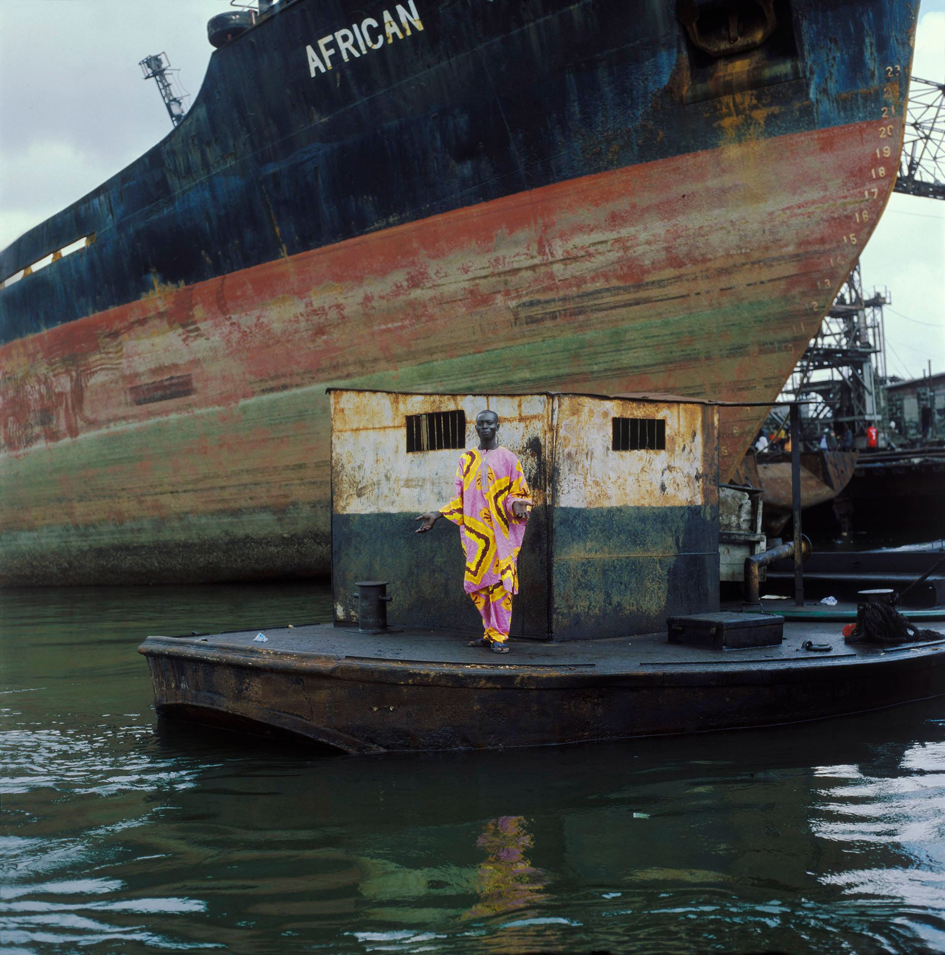 Man in Pink, Lagos Harbor