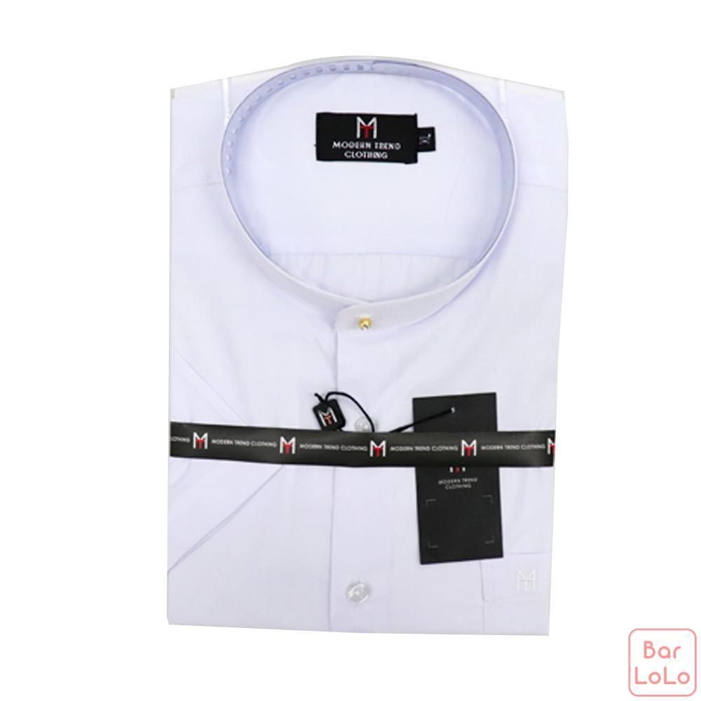 Stick Collar Shirt Short Sleeves (Exclusive) (MT003XLWH)-62596