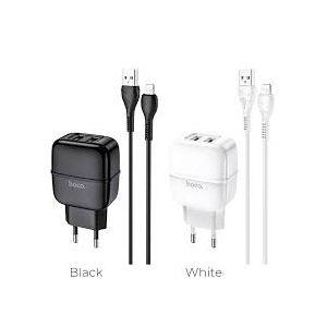 Hoco Highway dual port charger set(Lightning) ( C77A )