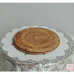 Three Red Star Round Placemat (Code - 019PL)-61537