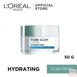 LOREAL PARIS PURE CLAY MASK HYDRATION 50G (G3210001)-62302