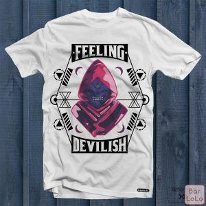 Men T-Shirt (Devilish) (S)-75864