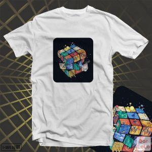 Men T-Shirt (Rubik's Cube)(L)-78453
