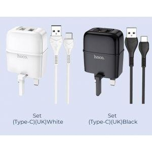 Hoco Highway dual port charger set(Type-C)( C77B )