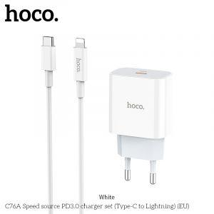 Hoco charger set(C TO Lightning) ( C76A )