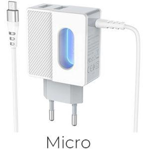 Hoco Imperious dual port charger(Micro)( C75 )
