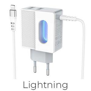 Hoco Imperious dual port charger(Lightning)( C75 )