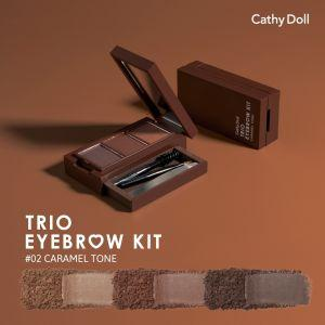 Cathy Doll Trio EyeBrow Kit  (#2 Caramel Tone)