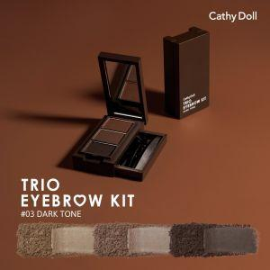 Cathy Doll Trio EyeBrow Kit  (#3 Dark Tone)