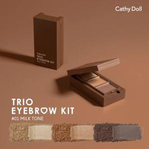 Cathy Doll Trio EyeBrow Kit  (#1 Milk Tone)