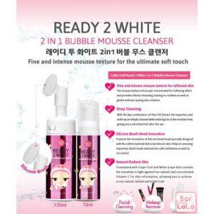 Cathy Doll 2in1 Bubble Mousse Cleanser 70ml [Ready 2 White]-27900