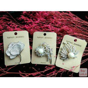 Platinum Women Brooch-43600