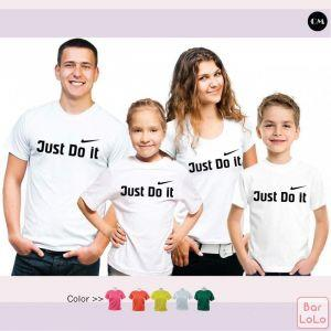 Family Cotton  T Shirt  (Just Do It)-45803