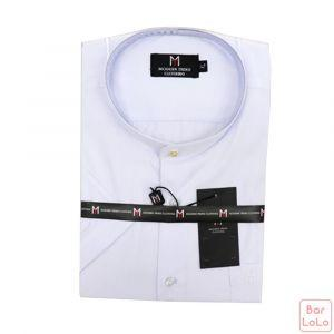 Stick Collar Shirt Short Sleeves (Exclusive) (MT003LWH)-62590
