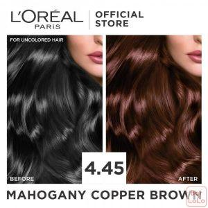 LOREAL PARIS EXCELLENCE CREME HAIR COLOR 4.45 MAHOGANY COPPER BROWN 172 ML (G2471900)-63507