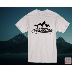 Men T-Shirt (Adventure)(L)-77224