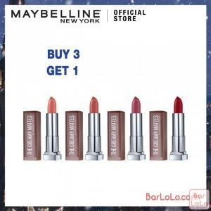 MAYBELLINE COLOR SENSATIONAL CREAMY MATTE MINI LIPSTICK (Buy 3 Get 1)-77312