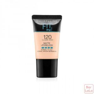MAYBELLINE NEW YORK FIT ME MATTE & PORELESS FOUNDATION TUBE - 120 CLASSIC IVORY (G3643800)-62384